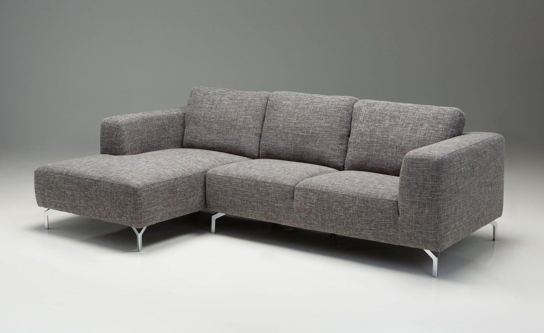 Mb Iumi Grey Tweed Fabric Sectional Sofa