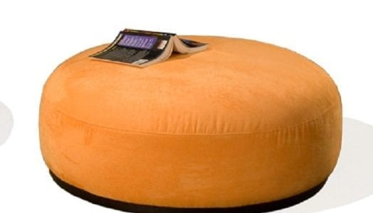SHA-L-COOL-OTTOMAN-40 ROUND 15H--LEATHER OR FABRIC