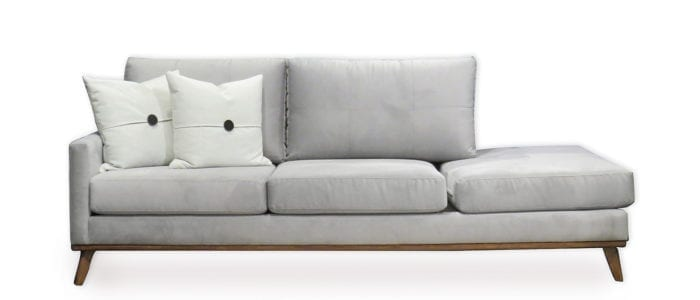Wood Trim Sofa with Bumber